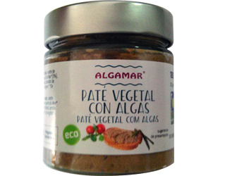 vegetable pâté with seaweed algamar 180gr
