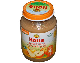 puré pear and apple holle 190gr