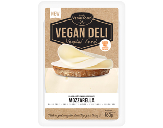 queijo vegan mozzarella fatiado fit food 160gr