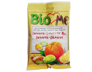 ginger, orange and lemon candy bio love me 75gr