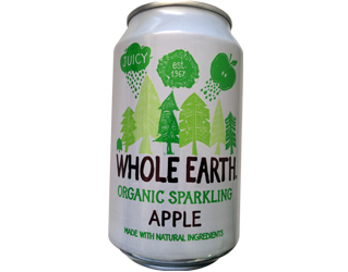 soft drink apple whole earth 33cl