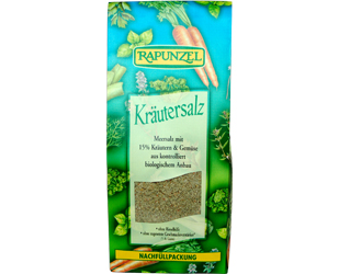 salt with aromatic herbs and vegetables rapunzel 500gr