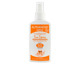 spray solar bebé F50 alphanova 125g