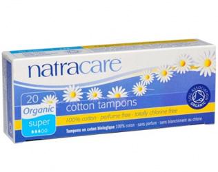 cotton tampons super natracare 20unid