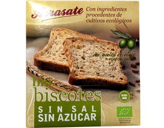 wheat toasts unsalted arrasate 270gr