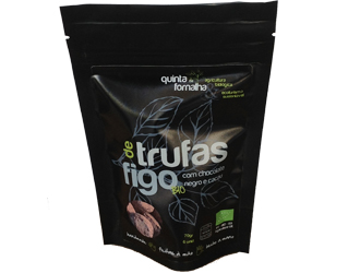 fig truffles with dark choc. and cocoa quinta da fornalha70g