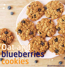 Oat and bluberries cookies