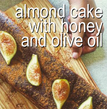 Almond Cake with honey and olive oil