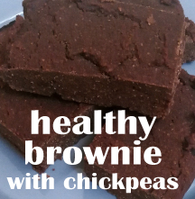 healthy brownie with chickpeas