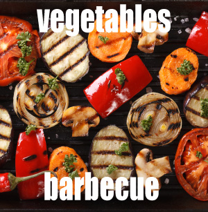 Vegetables barbecue and sauce