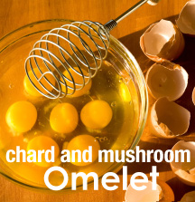 chard and mushroom omelet
